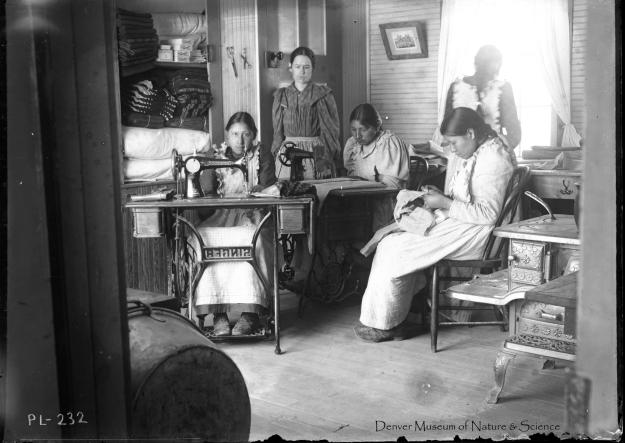 Sewing girls