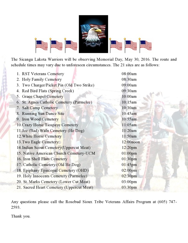 The Sicangu Lakota Warriors will be observing Memorial Day-page0001