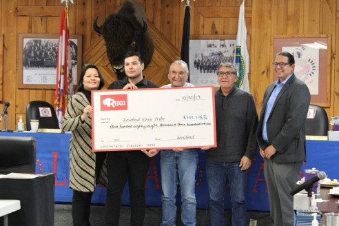 REDCO Presents $388K Payment to Rosebud Sioux Tribe
